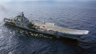The Admiral Kuznetsov aircraft carrier will be the first to leave the conflict area.
