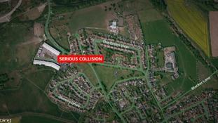 Three teenagers injured in Barnsley collision