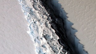 The massive rift in the Antarctic Peninsula's Larsen C ice shelf has been keenly watched by scientists.