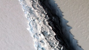Antarctica rift to create one of biggest icebergs ever recorded