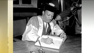 Martin Luther King, pictured here in 1967, was awarded an honorary doctorate by Newcastle University