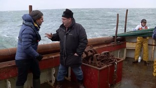 Jimmy Buchan, the skipper of the Amity trawler talks to ITV News correspondent Peter Smith.
