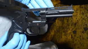 Four hand guns were recovered by specialist officers.