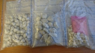 Police seized thousands of pounds worth of Class A drugs.