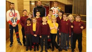 Springwell School pupils meet Danny, Matt and Josef