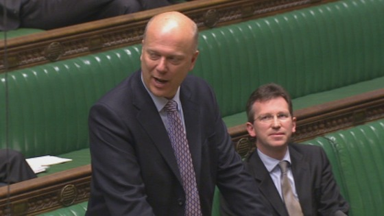 Justice Secretary Chris Grayling addressing the House of Commons