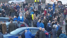Peterborough United fans ahead of their trip to Stamford Bridge