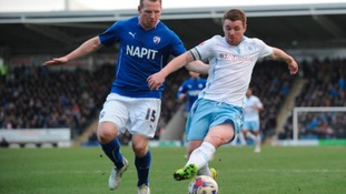 Chesterfield's Ritchie Humphreys and Coventry City's John Fleck