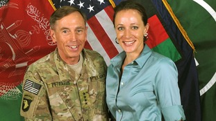 General David Petraeus with Paula Broadwell in July 2011.