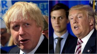 Boris Johnson holds talks with senior Trump team figures in New York