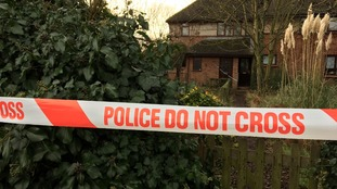 The scene of a suspected murder at St Ives in Cambridgeshire