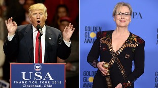 Trump slams Meryl Streep as 'over-rated' after she criticises him at Golden Globes