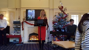 Singer Joss Stone holds surprise gig at care home