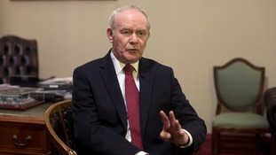 Deputy First Minster Martin McGuinness.