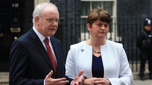 Martin McGuinness and Arlene Foster.