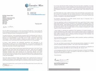 Martin McGuinness' resignation letter in full.