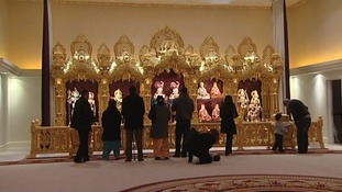 Prayers at a Hindu Temple in Leicester