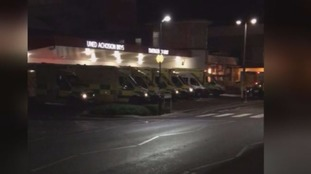 Ambulances outside Welsh hosptial