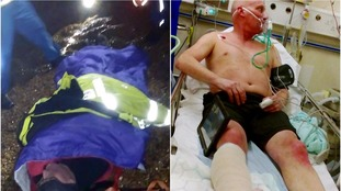 Tim Robinson is treated at the scene (let), and later in hospital