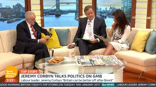 The Labour leader appeared on Good Morning Britain