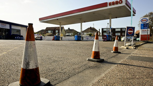 ESSO petrol station in Henleaze, Bristol, is closed after sales of petrol and diesel increased dramatically