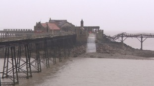 Demolition work halted on Birnbeck Pier