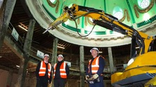 Whitley Bay's Spanish City Dome restoration will be carried out by remote controlled technology.