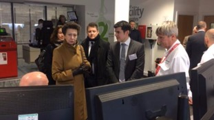Princess Anne opens new Shrewsbury energy facility