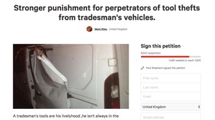Man who had tools stolen urges people to sign petition calling for tougher sentences