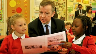 Michael Gove visiting a school
