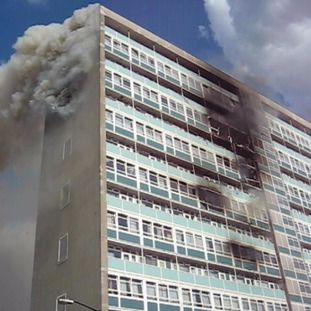 Fire at Lakanal House in Camberwell in 2009
