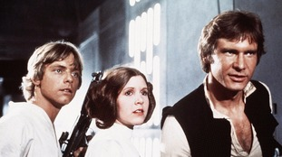 Mark Hamill, Carrie Fisher and Harrison Ford starred in Star Wars: Episode VI - Return of the Jedi.