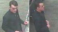 Police are trying to find this man after two Vera Wang rings were stolen from a jewellers in Southport.