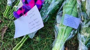 Flowers left at scene where Katie Rough died
