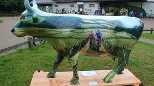 Fibreglass cow found five months after being stolen