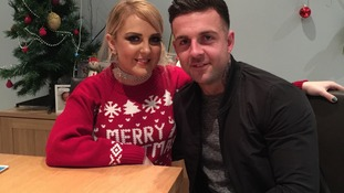 Amber Rose Cliff with brother Josh on Christmas Day. She died on January 8