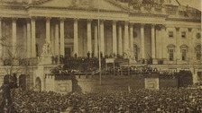 The first inauguration of President Abraham Lincoln