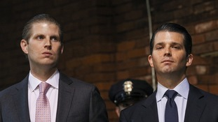 The President-elect's eldest sons Eric, left, and Donald Jr will oversee their father's business interests.