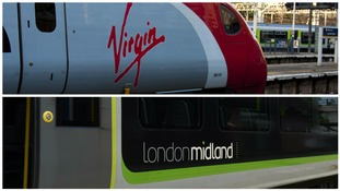 TRAINS: STAFFORDSHIRE - LONDON MIDLAND - VIRGIN