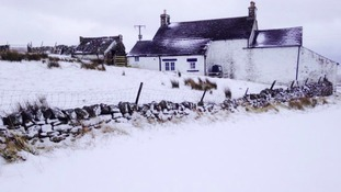 Blanket of snow covers Teesdale