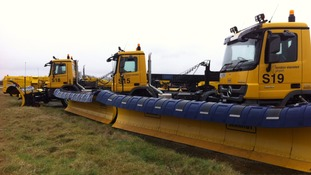 The snow ploughs are ready at Stansted.