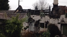 The fire ripped through the pub on Wednesday night.