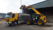 Gritting teams ready for action as snow starts to fall