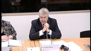 Carwyn Jones at the Scrutiny of the First Minister Committee