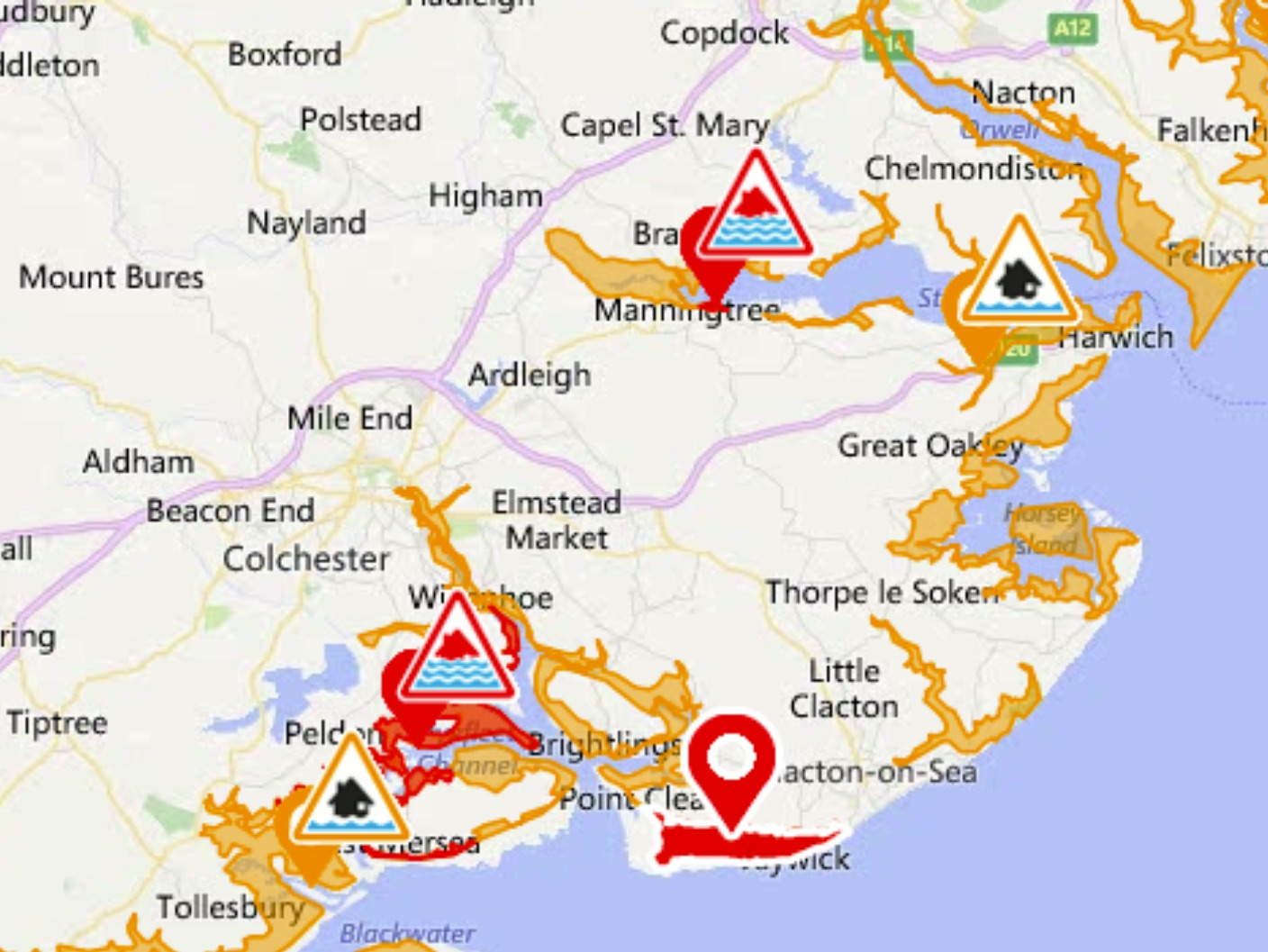 severe flood warnings issued for essex coast with risk of danger to life anglia  itv news. severe flood warnings issued for essex coast with risk of danger