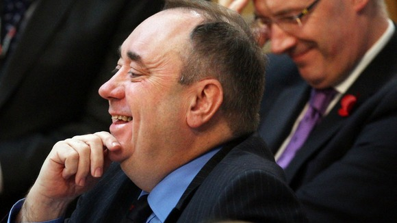 Scottish First Minister Alex Salmond during First Minister's Questions