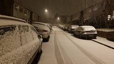 Snow in London last night