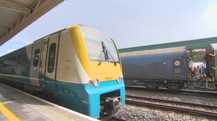 Trains at Cardiff Central