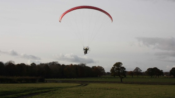 Gregg Shillabeer used his paramotor to help with the search for the missing man