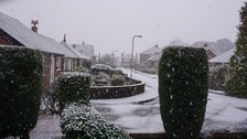The scene this morning in Leek, Staffordshire.